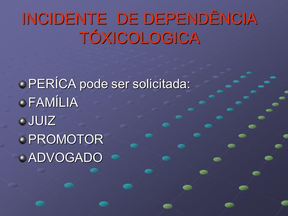 INCIDENTE DE DEPENDÊNCIA TÓXICOLOGICA