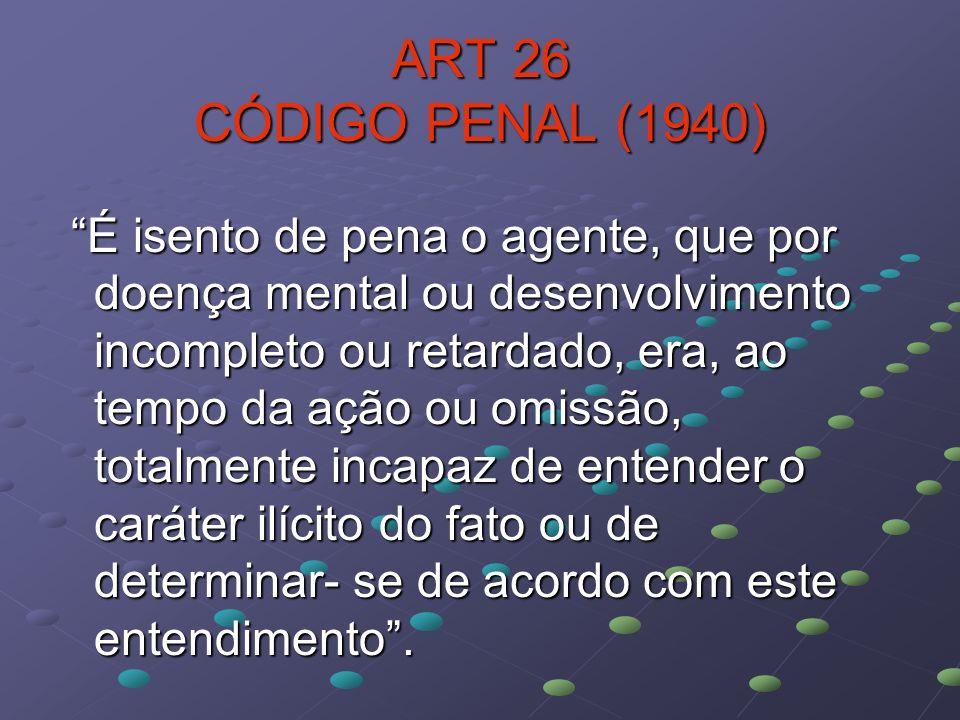 ART 26 CÓDIGO PENAL (1940)