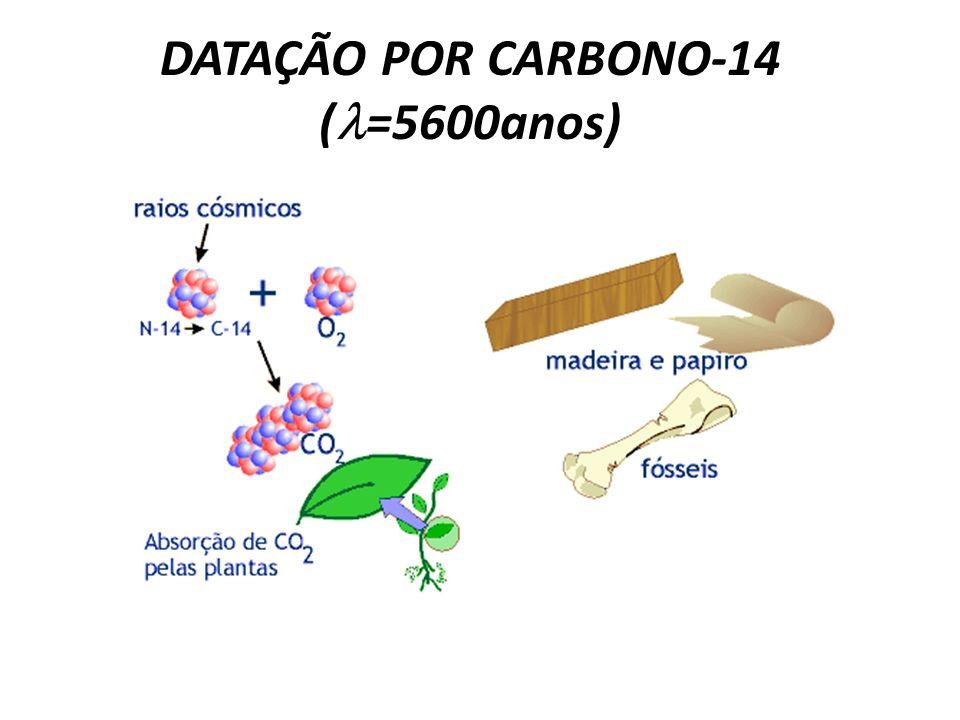 DATAÇÃO POR CARBONO-14 (l=5600anos)