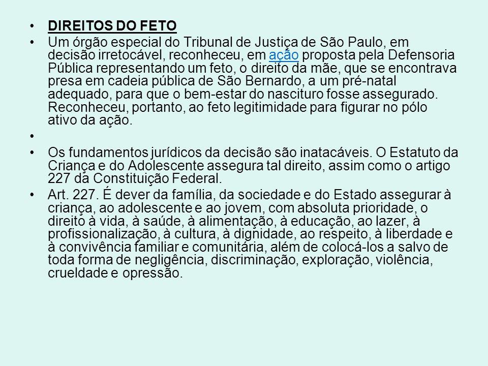 DIREITOS DO FETO