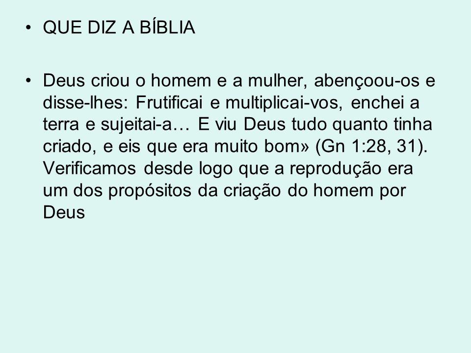 QUE DIZ A BÍBLIA