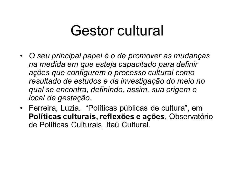 Gestor cultural