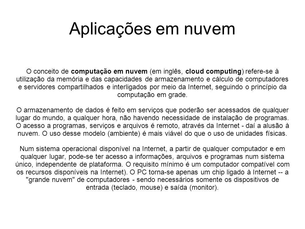 Aplicações em nuvem