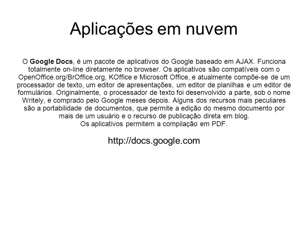 Os aplicativos permitem a compilação em PDF.