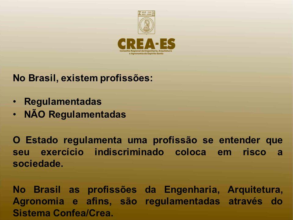 No Brasil, existem profissões: