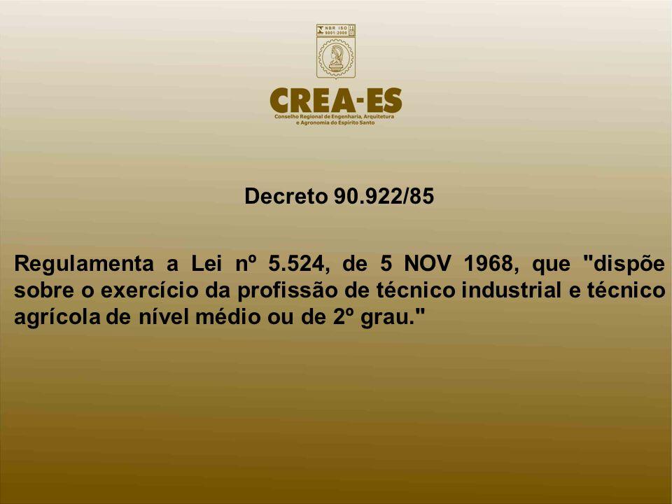 Decreto 90.922/85