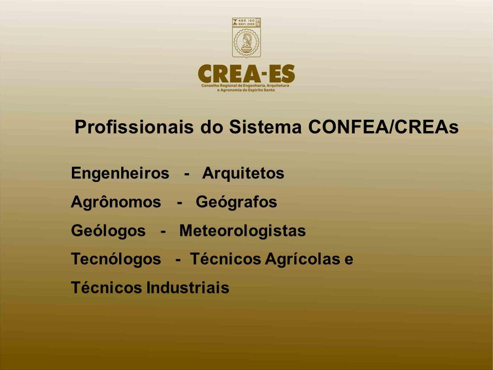 Profissionais do Sistema CONFEA/CREAs