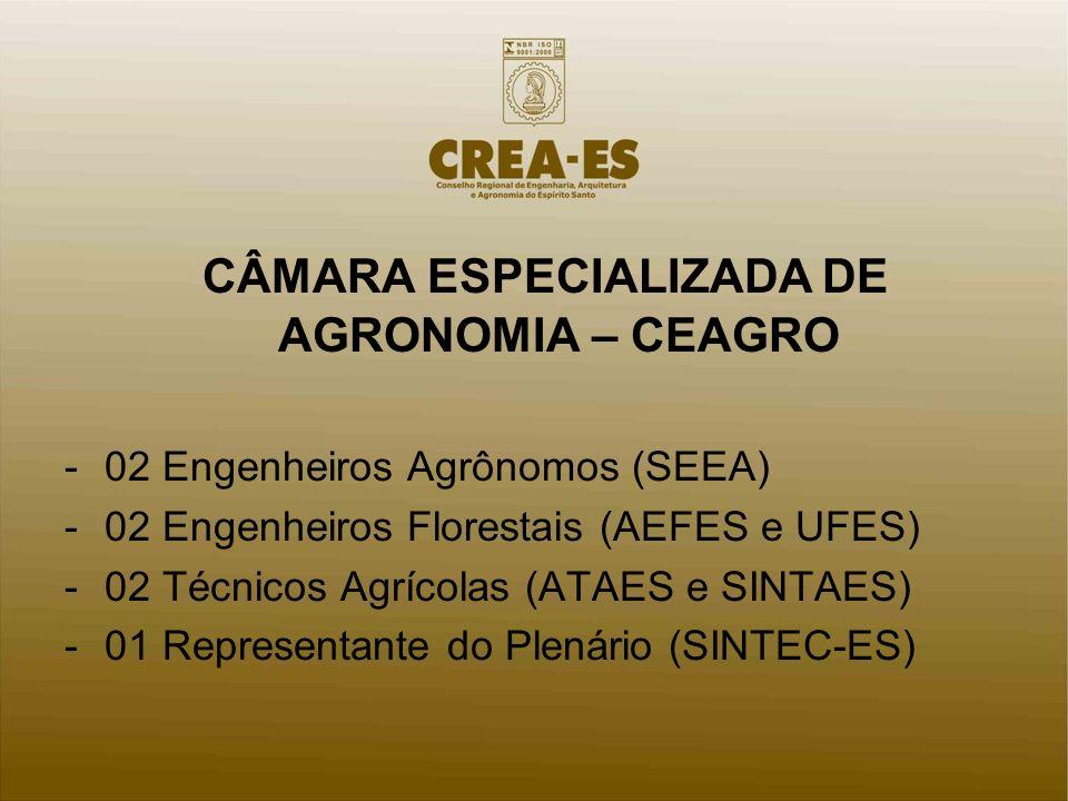 CÂMARA ESPECIALIZADA DE AGRONOMIA – CEAGRO