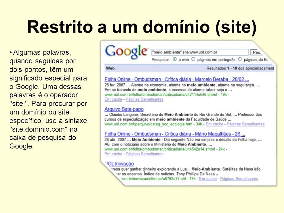 Restrito a um domínio (site)