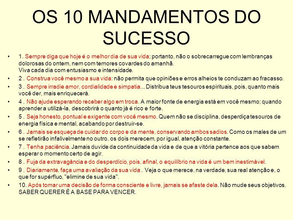 OS 10 MANDAMENTOS DO SUCESSO