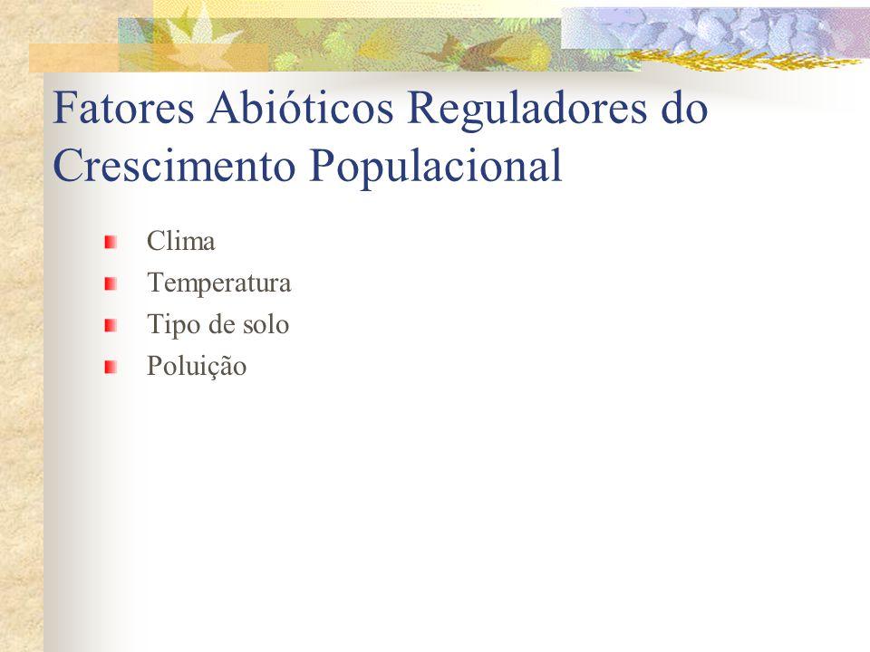 Fatores Abióticos Reguladores do Crescimento Populacional