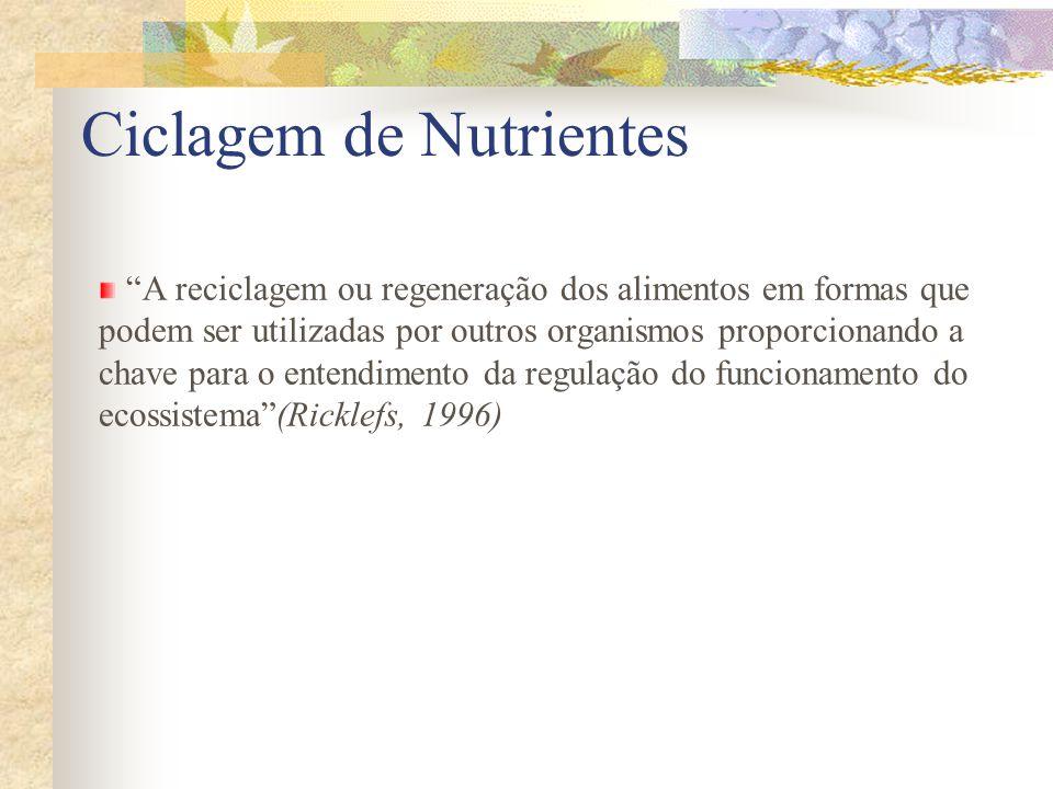 Ciclagem de Nutrientes