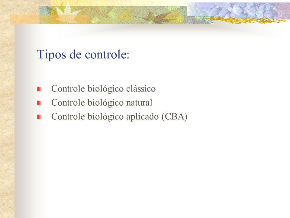 Tipos de controle: Controle biológico clássico