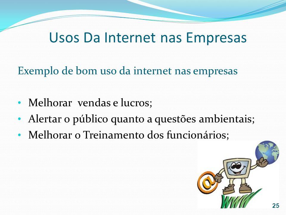Usos Da Internet nas Empresas