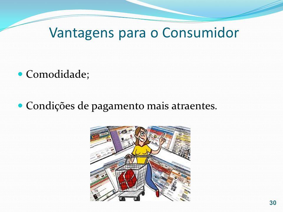 Vantagens para o Consumidor