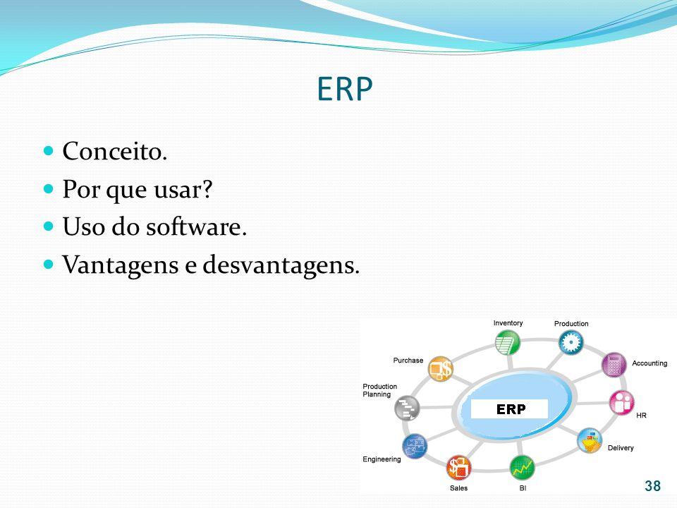ERP Conceito. Por que usar Uso do software. Vantagens e desvantagens.
