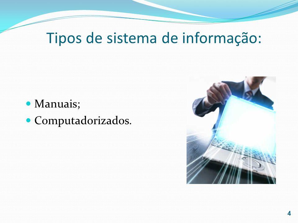 Tipos de sistema de informação: