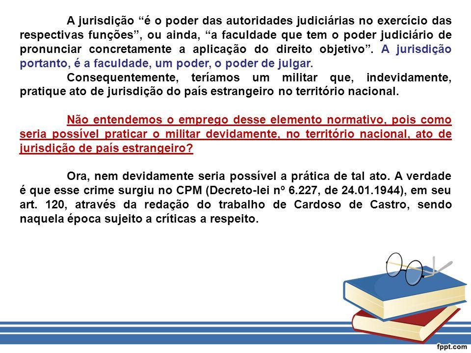 A jurisdição é o poder das autoridades judiciárias no exercício das respectivas funções , ou ainda, a faculdade que tem o poder judiciário de pronunciar concretamente a aplicação do direito objetivo . A jurisdição portanto, é a faculdade, um poder, o poder de julgar.