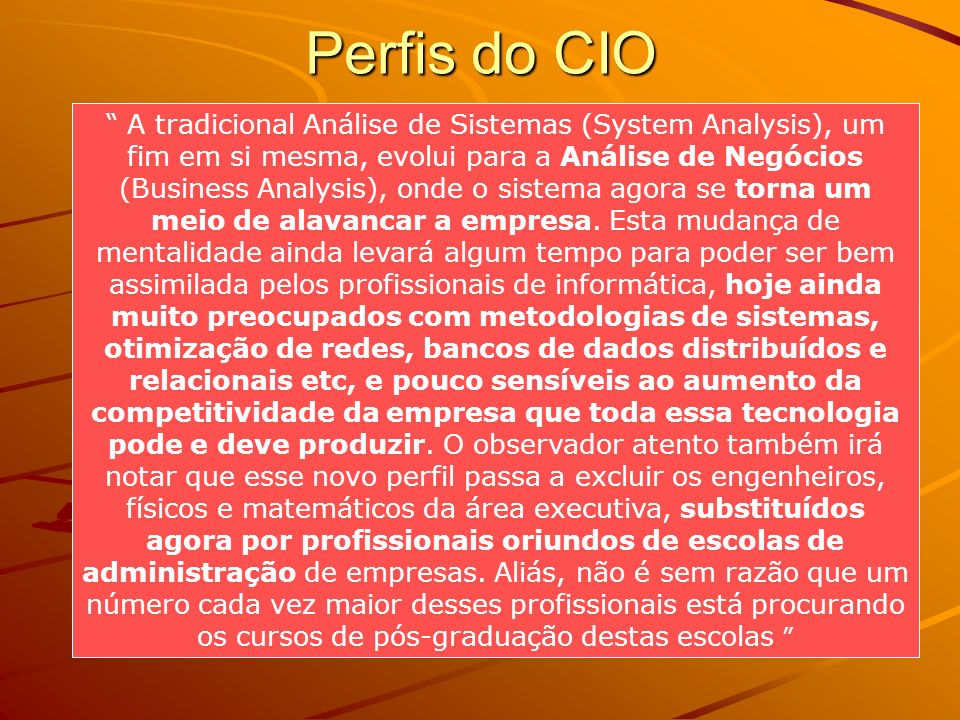 Perfis do CIO