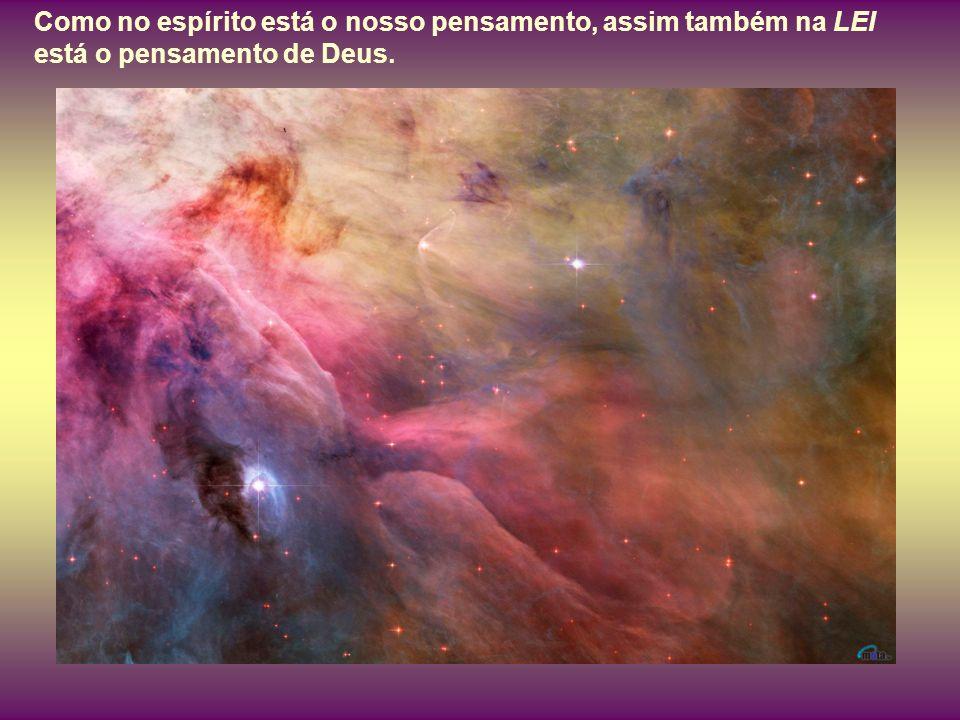 Como no espírito está o nosso pensamento, assim também na LEI está o pensamento de Deus.