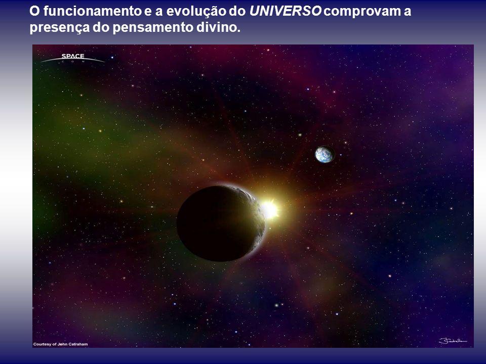 O funcionamento e a evolução do UNIVERSO comprovam a presença do pensamento divino.