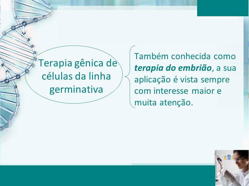 Terapia gênica de células da linha germinativa