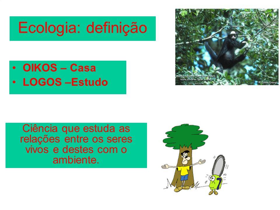 Ecologia: definição OIKOS – Casa LOGOS –Estudo
