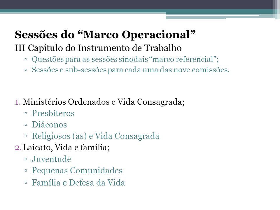 Sessões do Marco Operacional