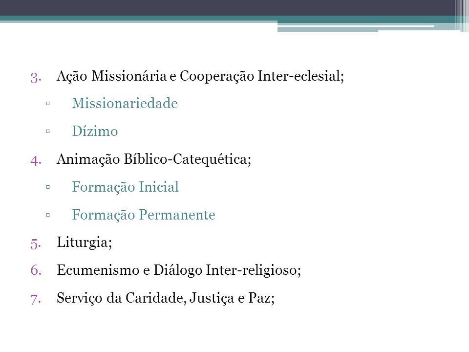 Ação Missionária e Cooperação Inter-eclesial;