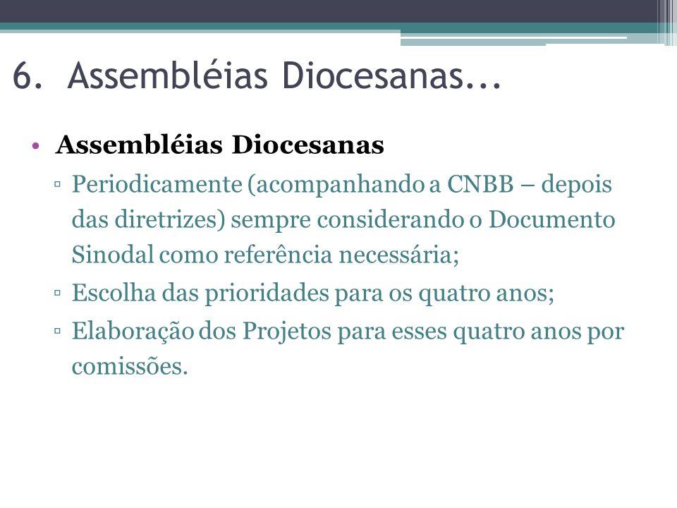Assembléias Diocesanas...