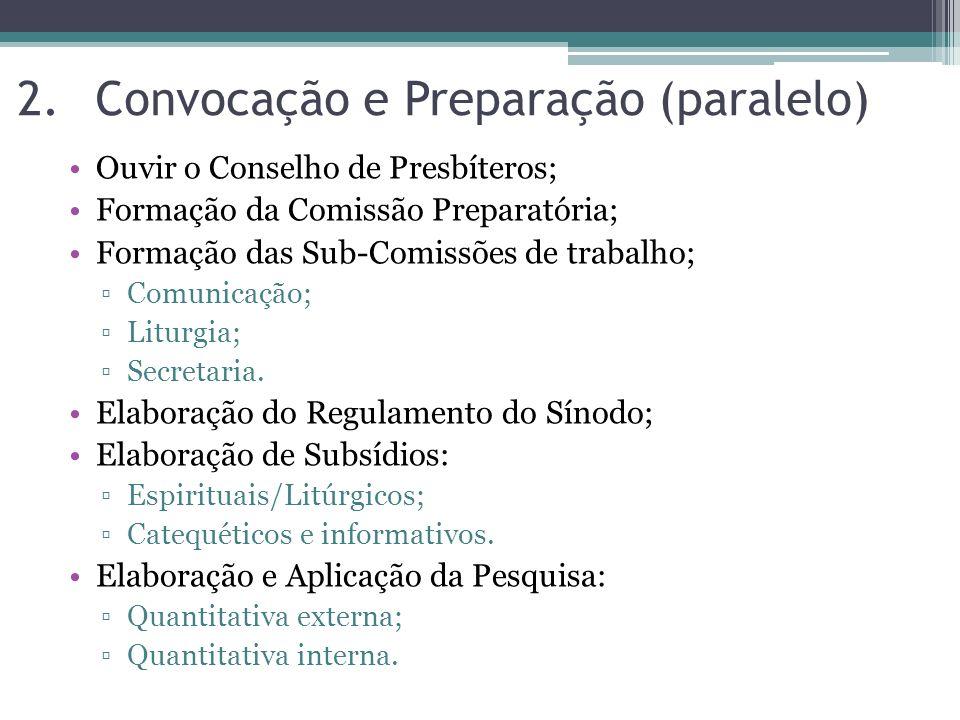 Convocação e Preparação (paralelo)