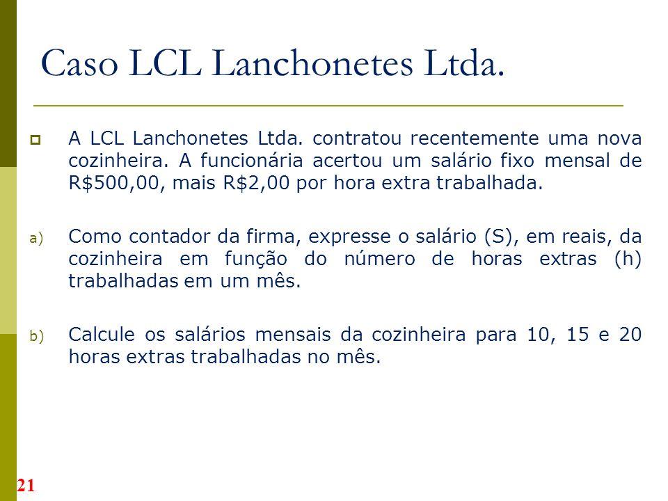 Caso LCL Lanchonetes Ltda.