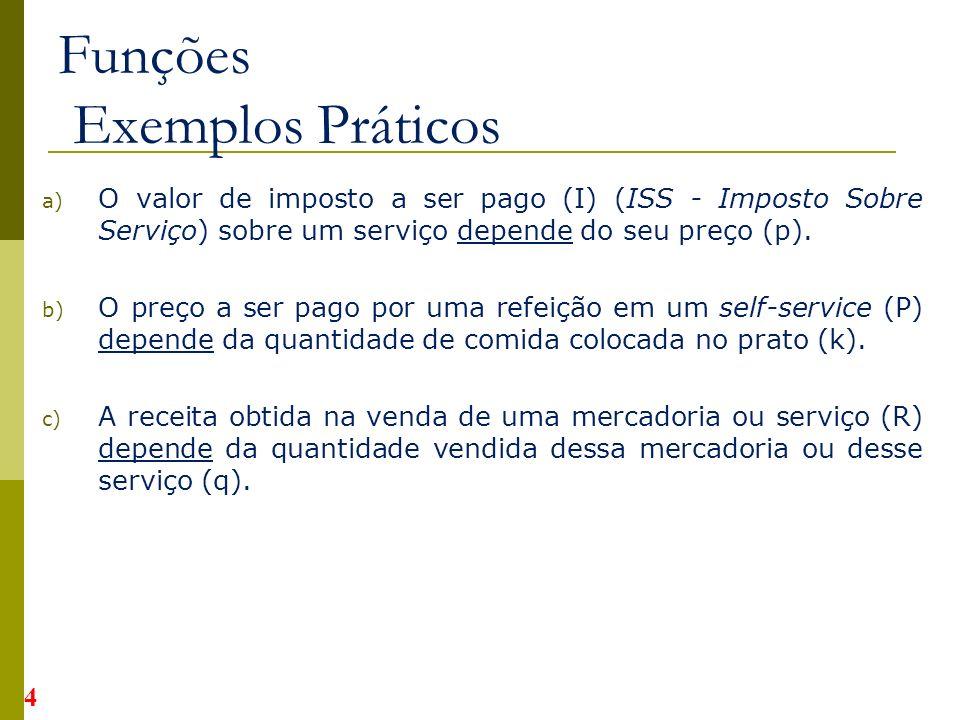 Funções Exemplos Práticos