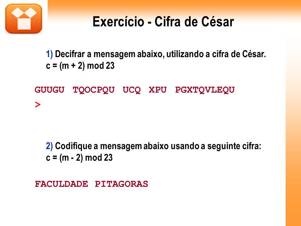 Exercício - Cifra de César