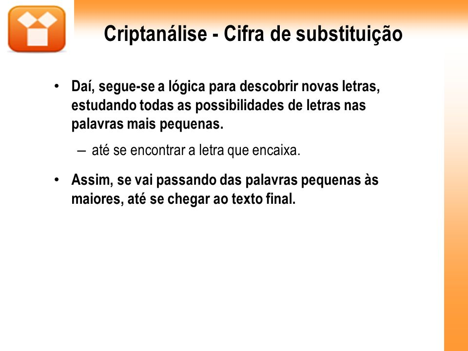 Criptanálise - Cifra de substituição