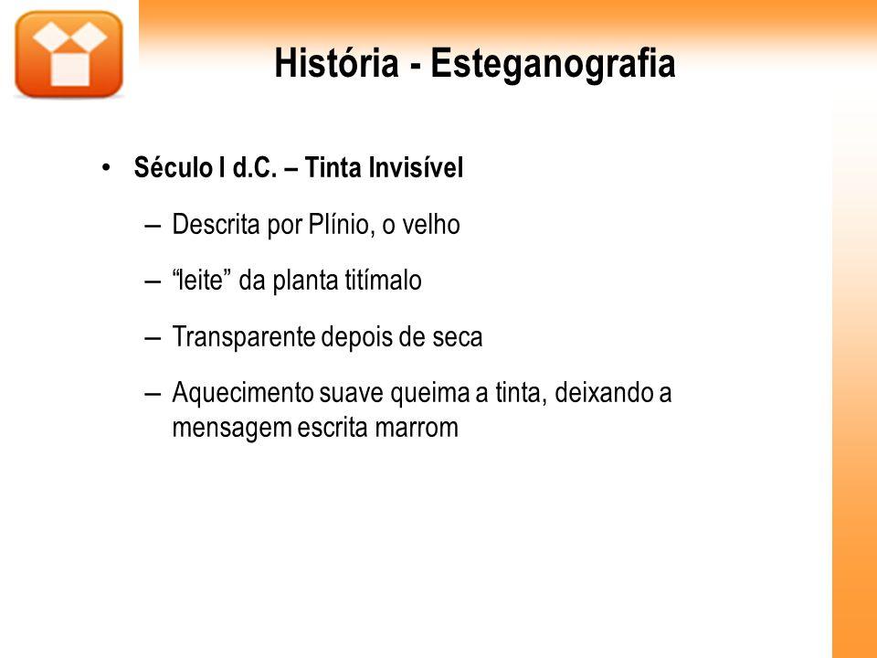 História - Esteganografia
