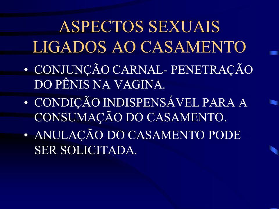 ASPECTOS SEXUAIS LIGADOS AO CASAMENTO