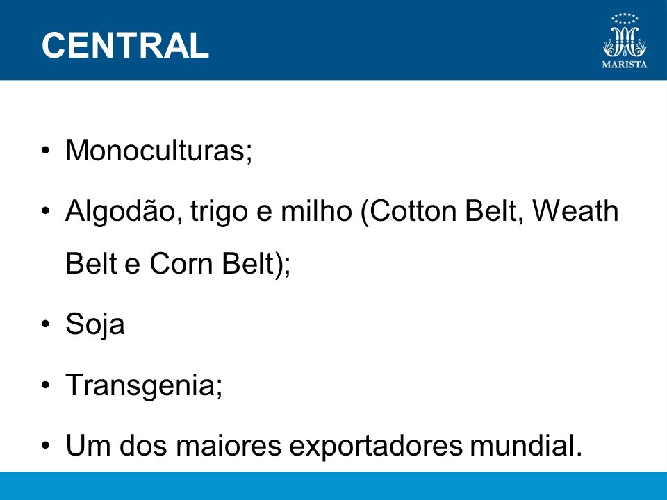 CENTRAL Monoculturas;