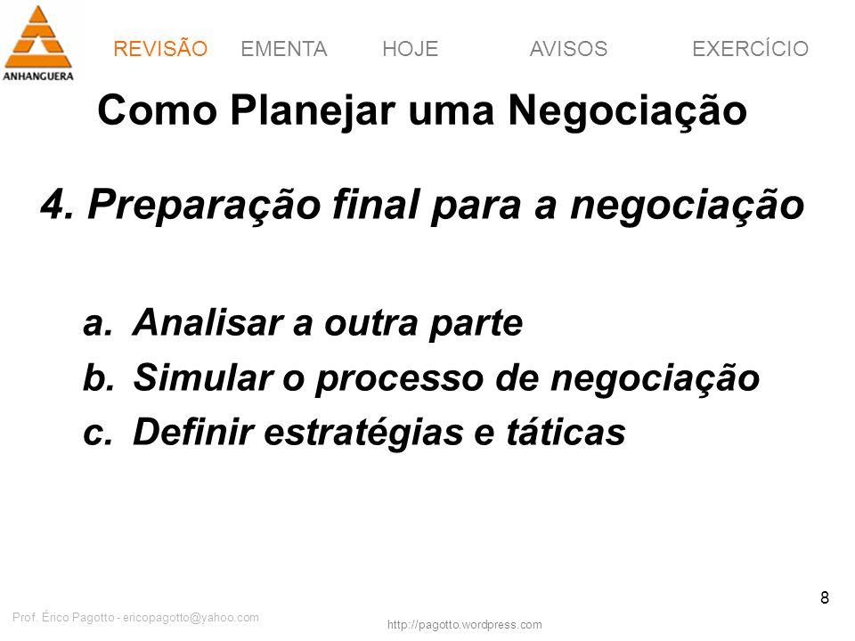 Como Planejar uma Negociação