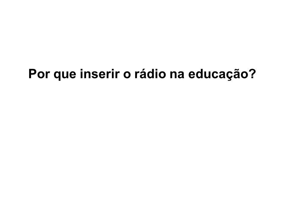 Por que inserir o rádio na educação