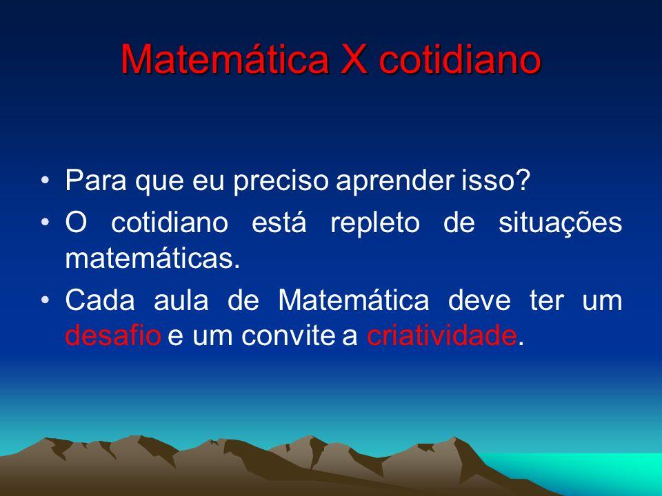 Matemática X cotidiano