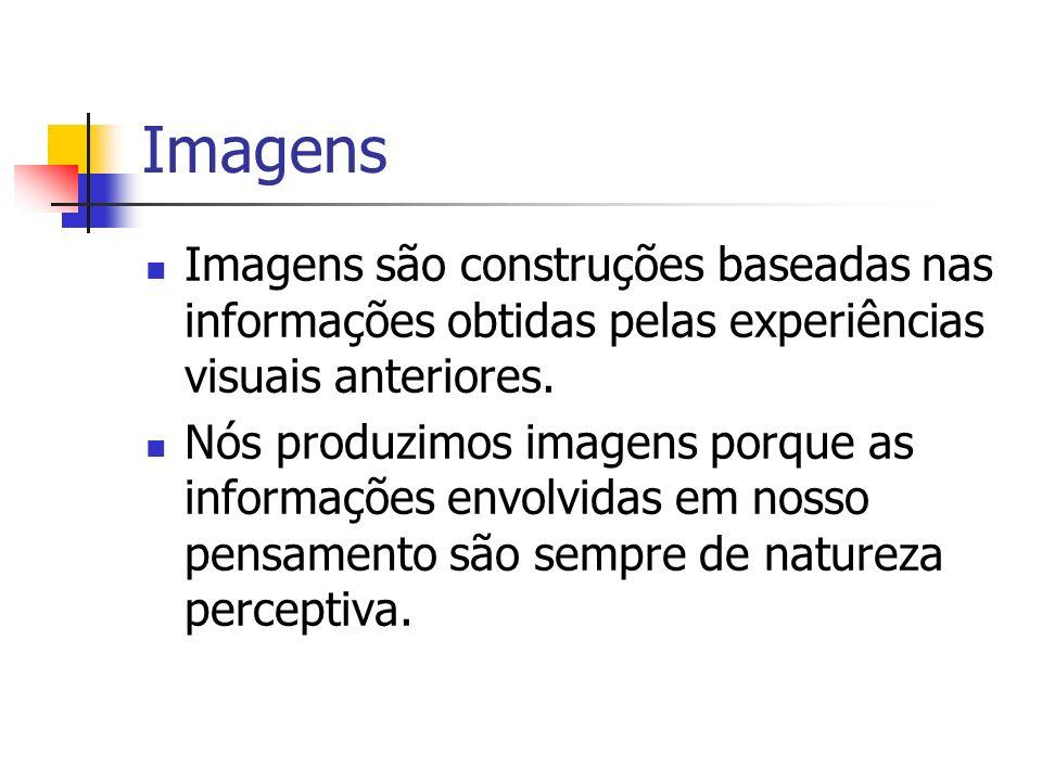 Imagens Imagens são construções baseadas nas informações obtidas pelas experiências visuais anteriores.