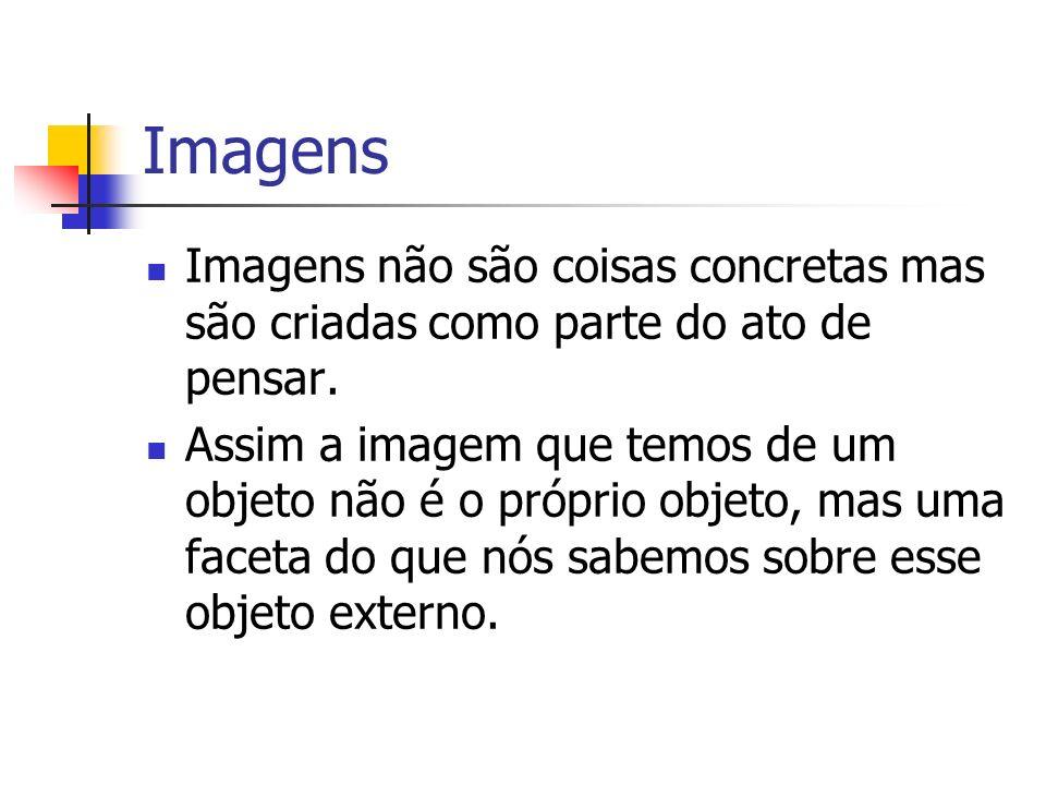 ImagensImagens não são coisas concretas mas são criadas como parte do ato de pensar.