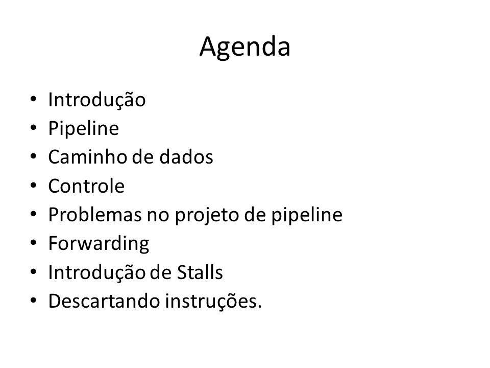 Agenda Introdução Pipeline Caminho de dados Controle