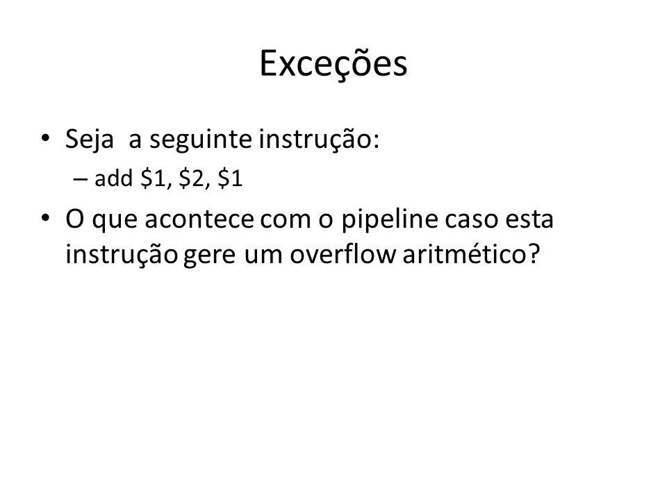 Exceções Seja a seguinte instrução: