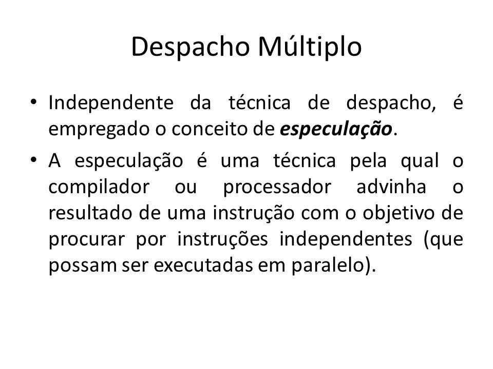 Despacho Múltiplo Independente da técnica de despacho, é empregado o conceito de especulação.