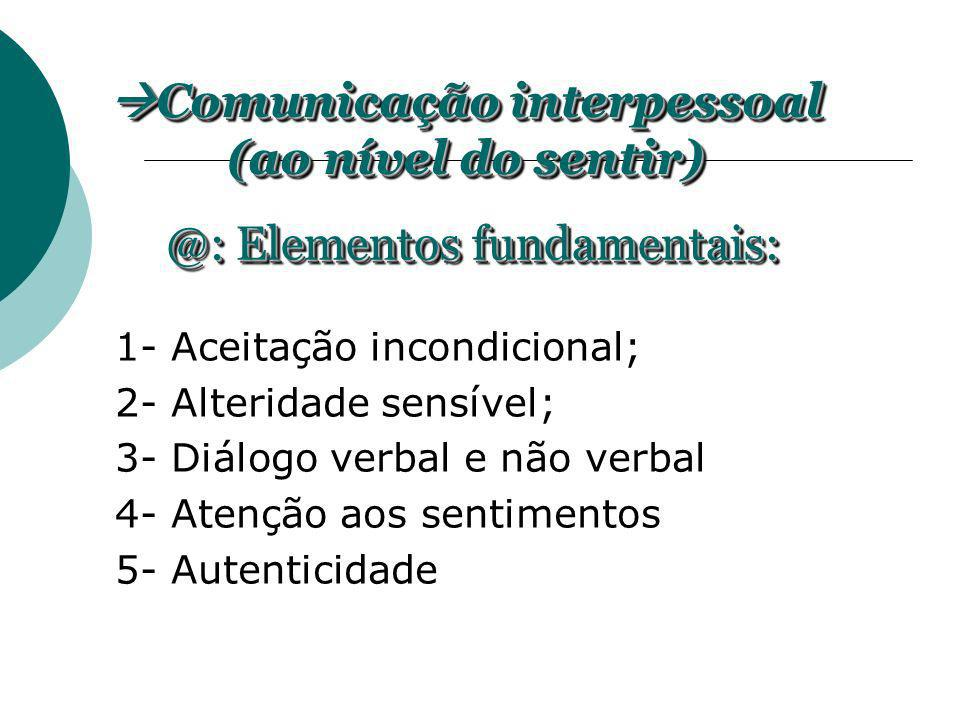 Comunicação interpessoal (ao nível do sentir)