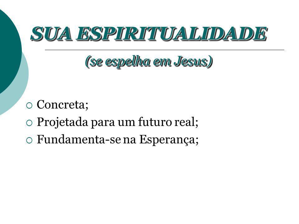SUA ESPIRITUALIDADE (se espelha em Jesus) Concreta;
