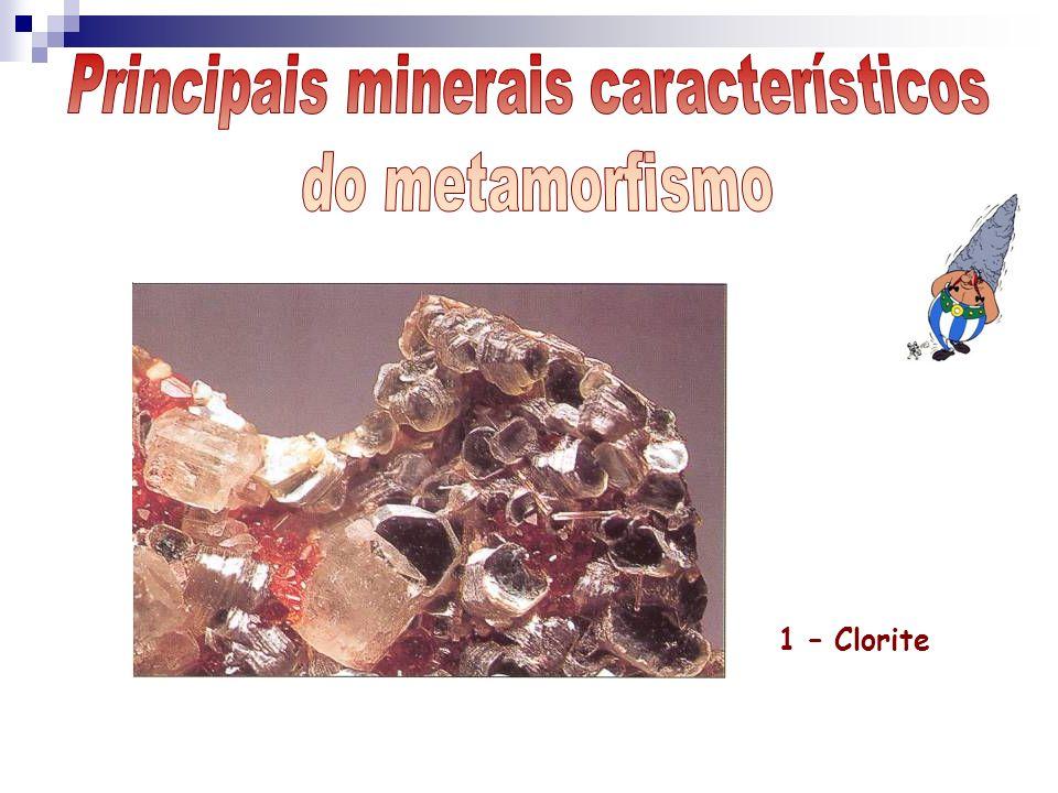 Principais minerais característicos
