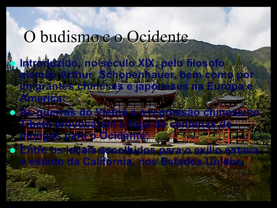 O budismo e o Ocidente